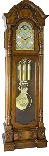 Hermle Anstead Dark Oak Grandfather Clock by Clocks