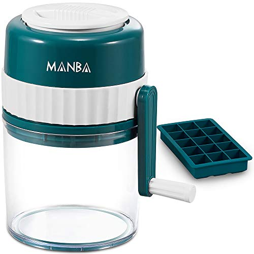 Buy Discount MANBA Manual Ice Shaver and Snow Cone Machine - Premium Manual Ice Crusher and Shaved I...