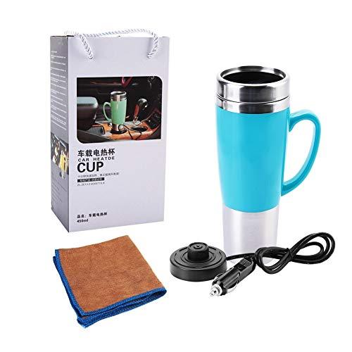 Jadeshay 24V Termo eléctrico de Agua Taza de Coche Caldera de Viaje Caldera for café Caliente Leche té (Color : Azul)