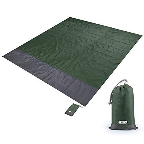 RENLEINB 1,4 x 2 m, 2 x 2.1m Extra Large Tapis de Pique-Nique Portable imperméable Couverture de Plage Tapis de Camping en Plein air Matelas Pique-Nique Plage Tapis Tapis de Sol matériel de Camping