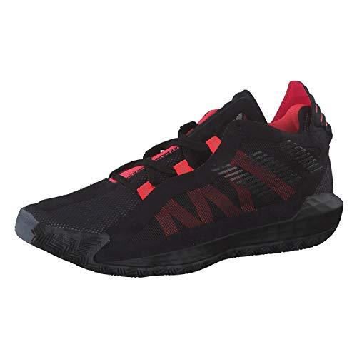 Adidas Dame 6, Zapatillas Deportivas Unisex Adulto, Noir Noir Rouge Flash, 39 1/3 EU