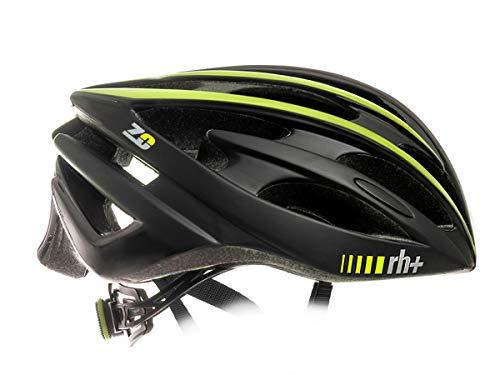 Zero RH+ Helmet Z Zero – Casco de Bicicleta Unisex – Adulto, Matt Black – Amarillo neón, XS/M