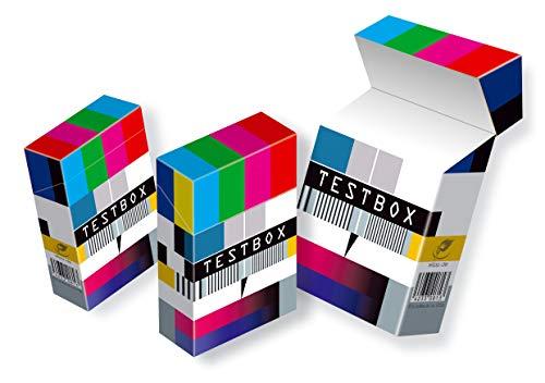 slipp overall TESTBOX origineller Zigarettenschachtel-Überzieher aus Karton mit Deckel (Motiv: 073 Testbox, 3 Stück)