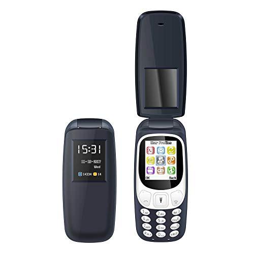 I KALL K3312 Premium Flip Mobile (1.8 Inch, 1000 mAh) (Dark Blue)
