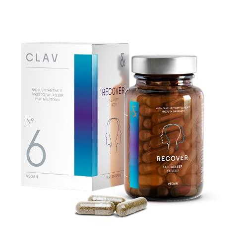 N°6 RECOVER   Conciliar el sueño más rápido. Potenciador natural de sueño con 1mg de melatonina  Vegano 300 g