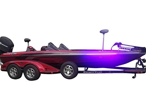 Fishing Vault High Output Ultra Violet UV Black Light LED Light Strip for Bass Boats & Night Fishing