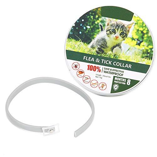 XQAQX Collar para Mascotas, Collar antipulgas, Repelente de Mosquitos, Collar para Perros y Gatos, Anti-garrapatas, Aceite Esencial Natural, Suministros para Mascotas