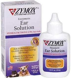 ZYMOX Enzymatic Ear Solution with 0.5-Percent Hydrocortisone, for Dog & Cat, 1.25 oz