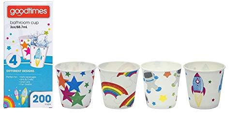 Goodtimes Bathroom Cups, 3 oz 200 ea, Assorted designs (1, Child)