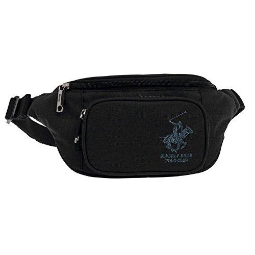 Beverly Hills Polo Club 5117151 Riñonera de Marcha, 2.28 litros, Color Negro