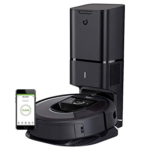 iRobot Roomba i7+ (7550) Robot Vacuum with Automatic Dirt Disposal- Wi-Fi Connected, Smart Mapping, Works with Alexa, Ideal for Pet Hair, Carpets, Hard Floors (Renewed)
