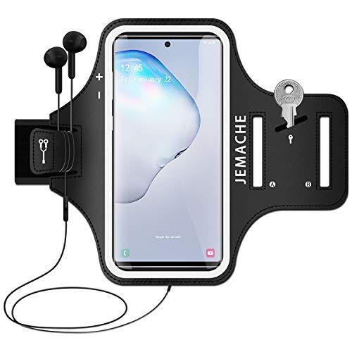 Galaxy Note 10+ 9 8 Running Brazalete, JEMACHE Deportivo Correr Móvil Brazo Banda Funda para Samsung Galaxy Note 10+ 9 8 (Negro)