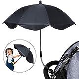 Souarts Pare-soleils Ombrelles Réglable Anti-UV pour Poussette Landau Parapluie Parasol avec Holder Clip pour Fauteuil Roulant Poussette Dia 65cm