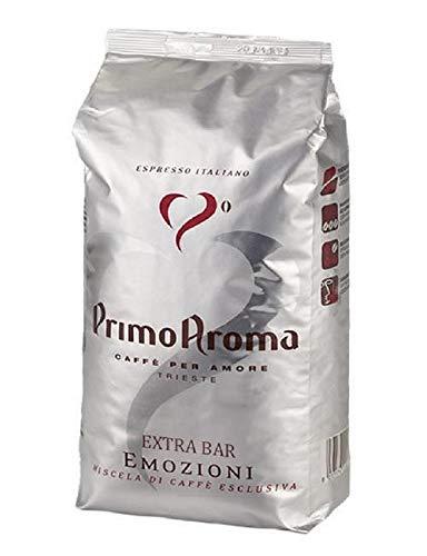 Primo Aroma Emozioni Extra Bar, Kaffeebohnen 1000g, Mischung aus kostbaren natürlichen und gewaschener Arabica, bei dieser Röstung wurde Wert auf die Zusammensetzung gelegt