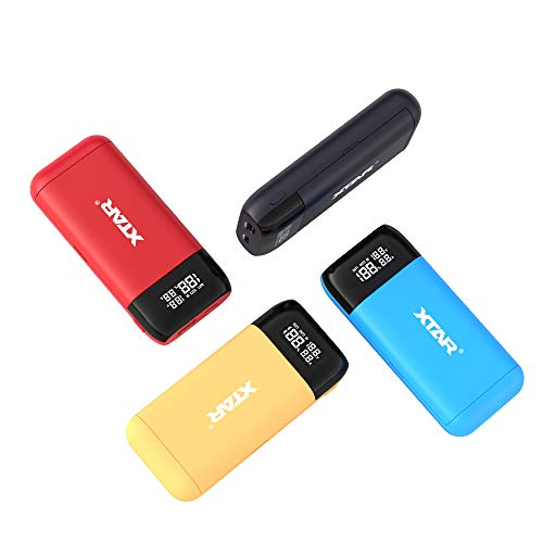 XTAR PB2S ladegerät 18650 xtar Batterieladegerät Schnelles Ladegerät USB C akku schnellladegerät 18650 Ungeahntes 20700 21700 Ladegerät USB ladegerät 18650 LCD Display Batterien Nicht enthalten (Blue)