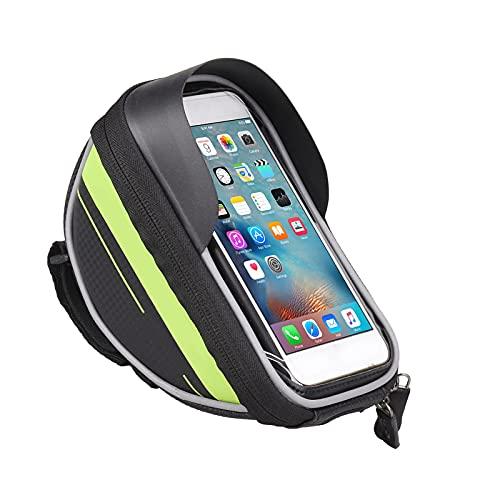 Ruiqas Bolso de Montaje para Teléfono Manillar de Bicicleta Marco Frontal Tubo Superior Soporte para Teléfono con Pantalla Táctil para Teléfono Inteligente de hasta 6 0 Pulgadas