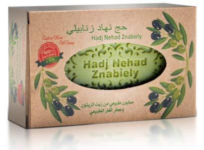 Aleppo Olivenöl Seife mit natürlichem Lorbeeröl Duft 100% natürlich für Haut und Haar 160g Handgearbeitet mit Schlaufe