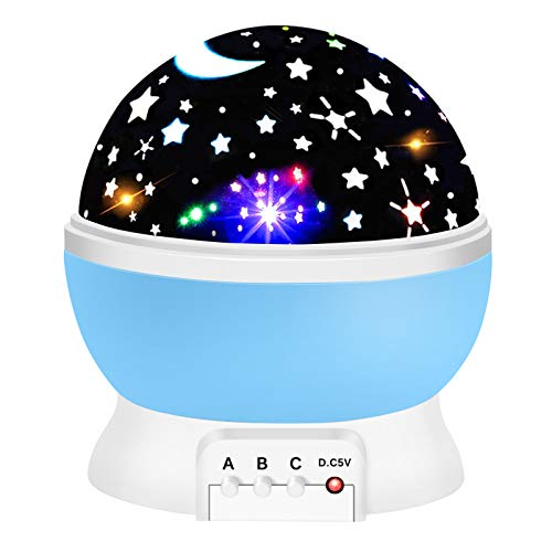 Gifts for 2-10 Year Old Boys, ATOPDREAM Star Night Light Projector for Kids Cool Toys for 2-10 Year Old Boys Christmas Birthday Gifts for Boys Age 2-10 Stocking Stuffers Fillers Sky Blue TSUSXK09