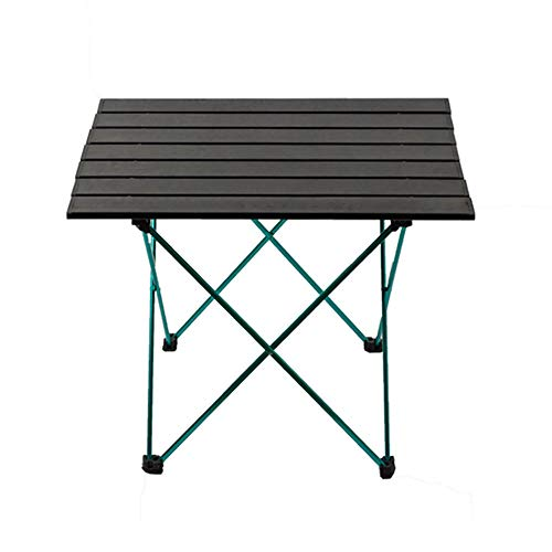 KKDWJ Outdoor Picknick-Tisch, Leichtklapp Camping Tisch mit wasserdichter Tragetasche und Non-Slip Fuß Cover, für Beach Garden Grill und Wandern,Schwarz