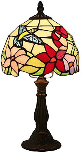 8 pulgadas de estilo Tiffany Lámpara de mesa de vidrio de vitrales Lámparas de escritorio Vintage...
