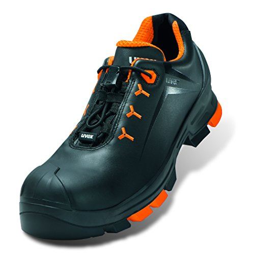 Uvex 2 Arbeitsschuhe - Sicherheitsschuhe S3 SRC ESD - Orange-Schwarz, Größe:44