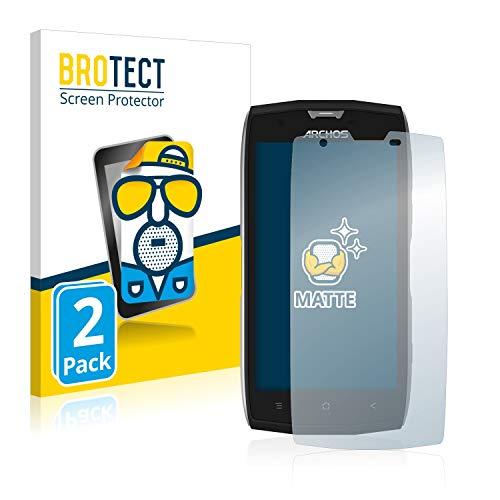 BROTECT 2X Entspiegelungs-Schutzfolie kompatibel mit Archos Sense 50X Bildschirmschutz-Folie Matt, Anti-Reflex, Anti-Fingerprint