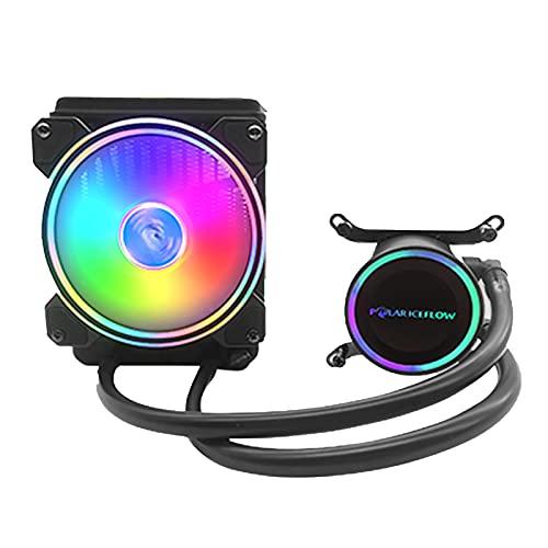 MagiDeal Refrigerador de CPU RGB Sistema de Refrigeración por Agua con Ventilador de 120 Mm para LGA LGA2011