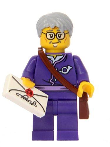 LEGO Ninjago: Minifigur Postman / Postbote (aus dem Set 70751) mit Brief und Posttasche