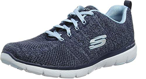 Skechers Damen Flex Appeal 3.0-high Tides Sneaker, Blau, 42 EU