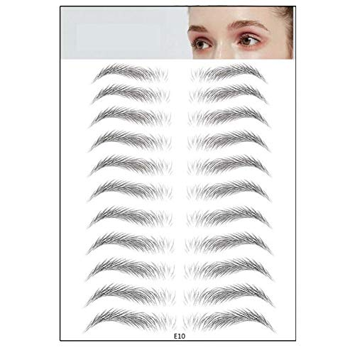 4D sourcils authentiques comme des cheveux, imitation écologique tatouage naturel sourcils autocollants faux sourcils imperméable maquillage durable toilettage façonner sourcil