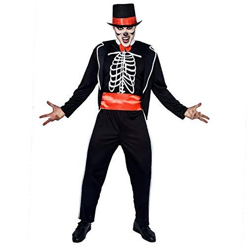 SEA HARE Costume da Giorno della Morte Scheletro di Halloween per Uomo