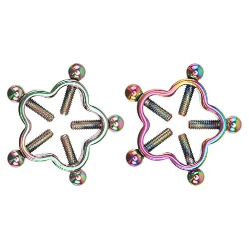 Holibanna Anéis de mamilo de aço inoxidável sem piercing para mamilo, joia para piercing corporal, 2 peças