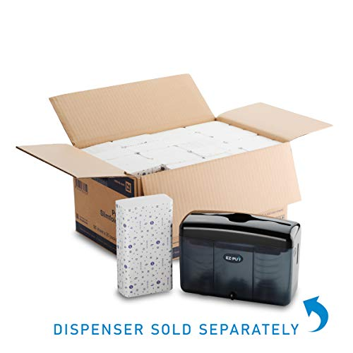 "EZ-PUll P2F5 Slimfold Paper, Premium 2-Ply Hand Towel, White-20 x 90 Sheets, 10""x7.75"""