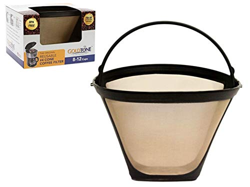 GoldTone Brand Reusable No.4 Cone Style Replacement Coffee Filter replaces your Cuisinart Permanent Coffee Filter for Machines and Brewers (1 Pack)