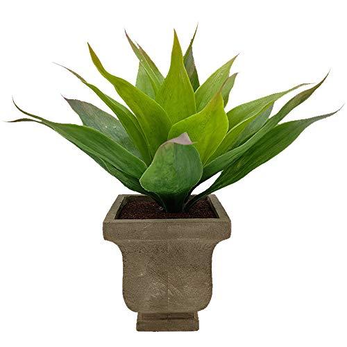 Aisamco Aramco Artificiale succulenta Aloe Finta per Bagno Home Office Decor Pianta succulenta Finta con fioriera Grigia Pianta in Vaso Artificiale Alta 29 cm per la Decorazione della casa