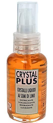 Crystal Plus Cristalli Liquidi Professionale 50 ml, Ai Semi Di Lino, Elimina Le Doppie Punte, Made in Italy