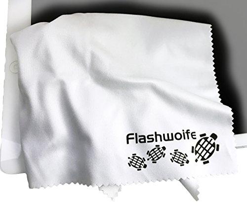 Flashwoife Turtle-RT30W extra fine in microfibra (Nano-fibra) panno di pulizia 30x30 cm, bianco