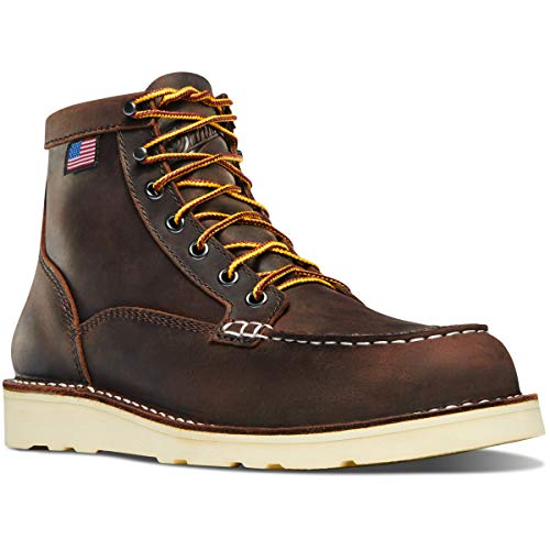 "Danner Women's 15575 Bull Run Moc Toe 6"" Work Boot, Brown - 8.5 M"