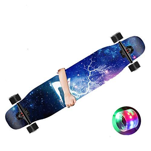 47' Longboard patineta Skateboard edición Especial Tabla Completa,con rodamientos de Bolas ABEC Alta velicidad,Boy Girl Brush Street Dance Board Principiante,Drop-Through Skate Cruiser Boards