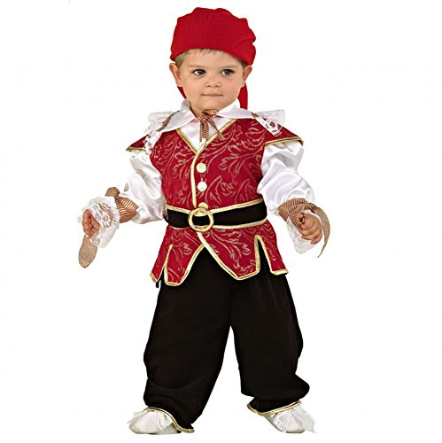 Mortino Kostüm Seeräuber Gr. 80/86 und 92 Kinderfasching Pirat Seefahrer Babykostüm (92)
