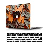 NEWCENT Nuevo MacBook Air 13' Funda,Plástico Ultra Delgado Ligero Cáscara Cubierta EU Teclado Cubierta para MacBook Air 13 Pulgadas con Retina Display Touch ID(Modelo:A1932),Flores A 0219