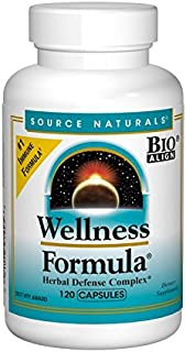 Source Naturals Wellness Formula Bio-Aligned Vitamins & Herbal Defense - Immune System Support Supplement & Immunity Booster - 120 Capsules