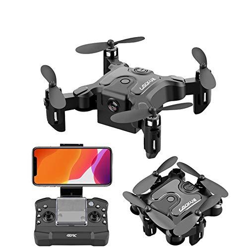 Drone con videocamera 4K Video live, Drone FPV WiFi pieghevole per adulti con videocamera grandangolare 4K HD 120 ° 10 minuti Tempo di volo lungo Auto Hover Quadricottero RC pieghevole pieghevole