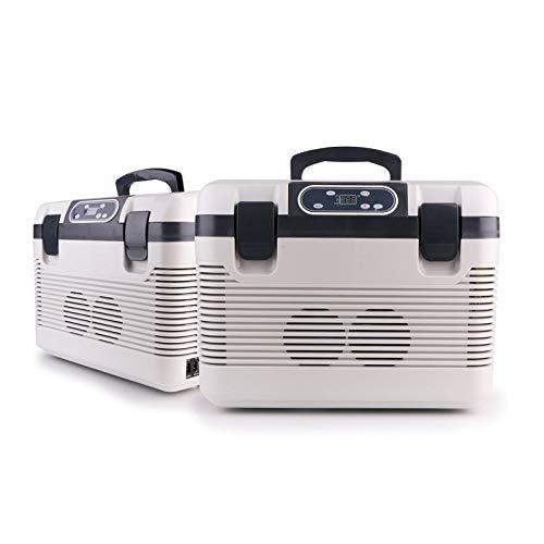 WY-Mini-Kühlschrank Auto Kühlbox, Kompressor Kühlbox Gefrierbox, mit 12/24/220 Volt Anschluss für PKW und LKW, Kapazität 12L