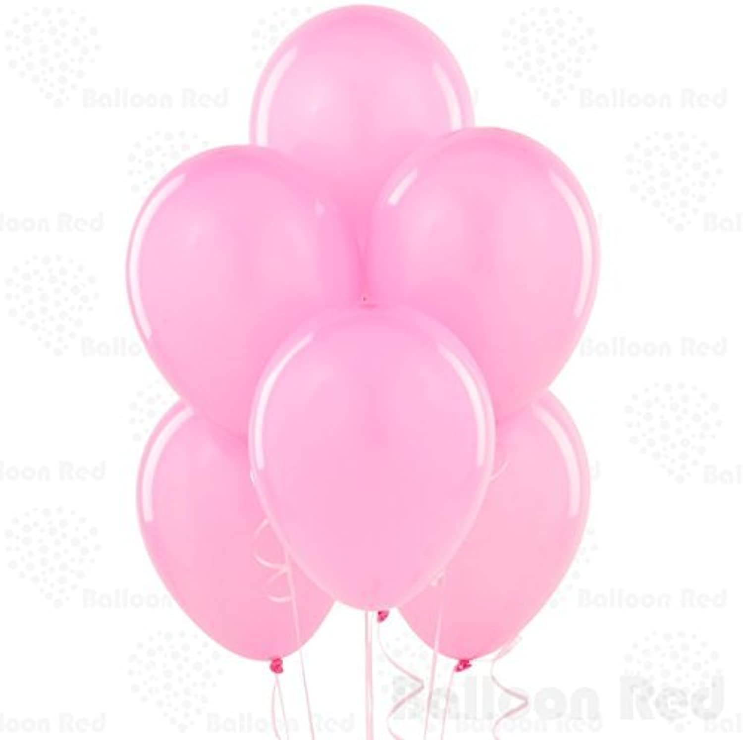 12 Inch Latex Balloons (Premium Helium Quality), Pack of 144, Powder Pink by Balloon Red