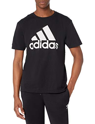 adidas Insignia básica para Hombre, Hombre, Camisa, GDO06, Negro/Blanco, 3XL