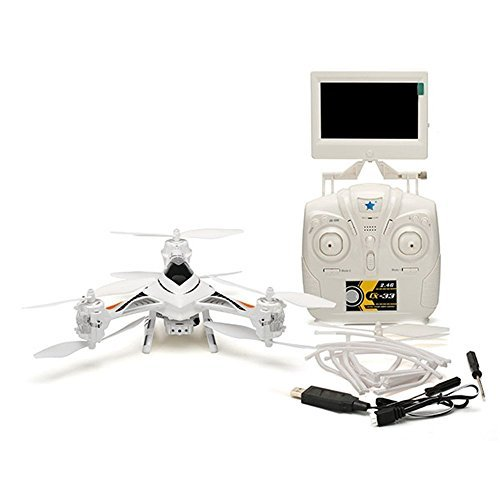 Cheerson CX-33S CX33S 2.0MP HD Camera 5.8G FPV With High Hold Mode RC Tricopter one-key to switch of Mode 1 and Mode 2 White