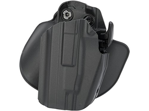 Safariland 578 7TS GLS Pro-Fit, Standard Frame, Compact Slide, Paddle & Belt Loop Holster, Plain Black, Left Hand