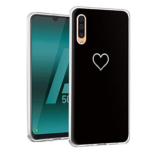 Yoedge Samsung Galaxy A50 Hülle, TPU Silikon Transparent Schutzhülle Handyhülle mit Muster Motiv Hülle Superdünn Stoßfest 360 Bumper Weiche Cover für Samsung Galaxy A30S-6,4