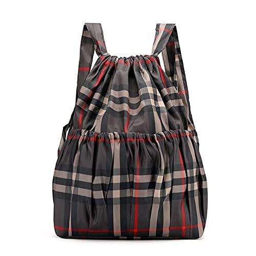 MIMITU Mochila con cordón para mujer, mochilas de nailon para dama de gran capacidad, mochilas florales estampadas, bolsas de compras para viajes y fitness, estilo 9